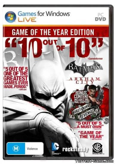 Batman: Arkham City - Game of the Year Edition (2012) PC | Лицензия